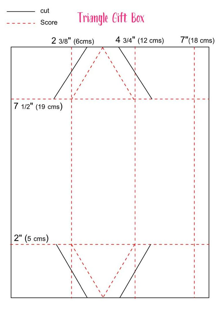 Triangle Treat Box Template