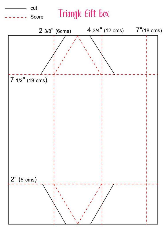 Triangle Treat Box Template