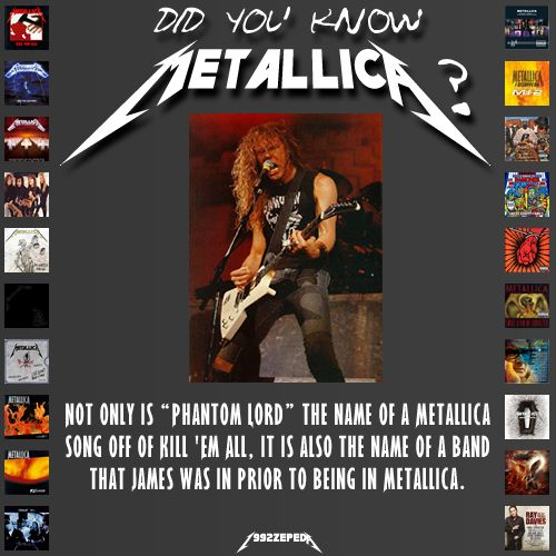 YEP...FIRST BAND WAS OBSESSION THEN PHANTOM LORD THEN LEATHER CHARM (WITH RON MCGOVNEY) THEN METALLICA...