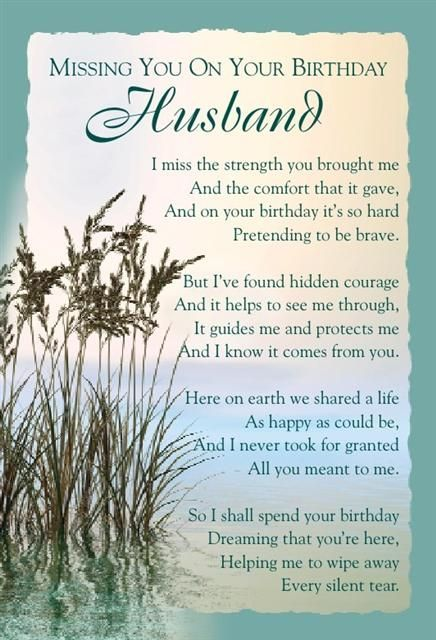 happy birthday husband in heaven | birthday heaven husband | Graveside Bereavement Memorial Cards A ...