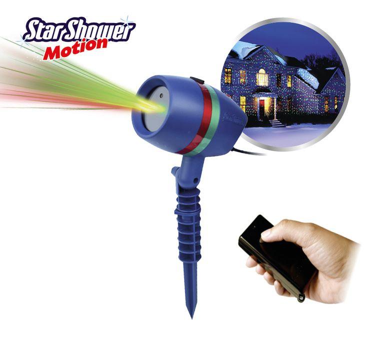 Star Shower Motion  Remote  Description: De eye-catcher! De licht sensatie! De STAR SHOWER MOTIONREMOTE! Projecteer nu duizenden bewegende sterren of patronen in en om uw huis met deze Star Shower Motion. Deze versie kunt u nog makkelijker gebruiken door de afstandsbediening die erbij geleverd wordt. De Star Shower is waterdicht zodat u het artikel zowel binnen als buiten kan gebruiken. Dankzij de ingebouwde lichtsensor gaat de Star Shower automatisch aan zodra het donker is. Verbaas niet…