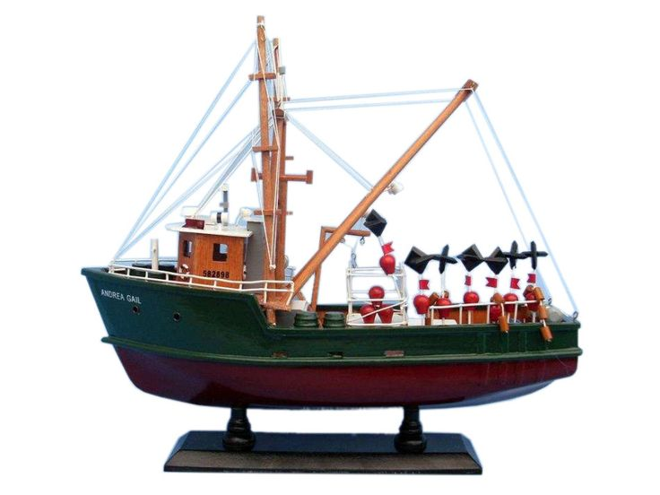 Wooden Andrea Gail The Perfect Storm Model Boat 16 inch