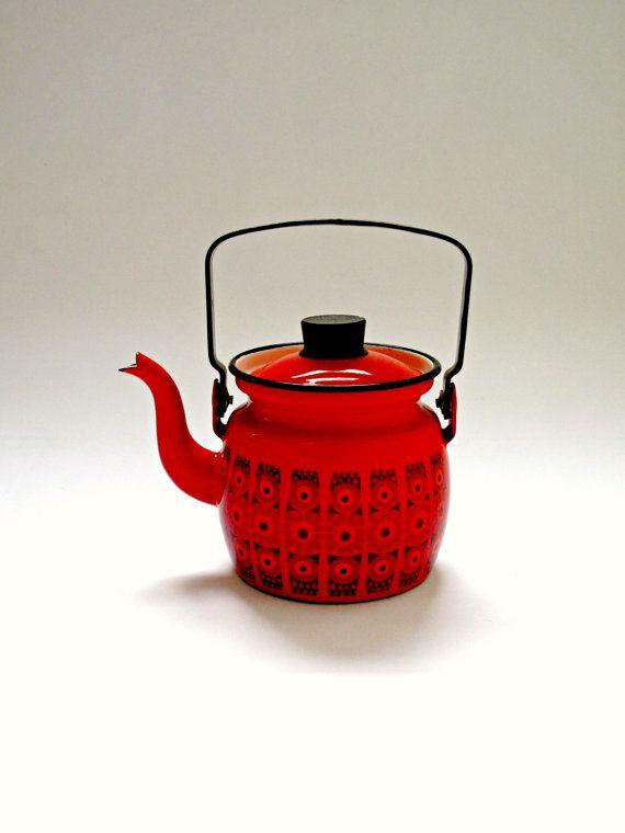 Kaj Franck Arabia Finel Enamel Teapot Kettle by HotHouseVintageCo