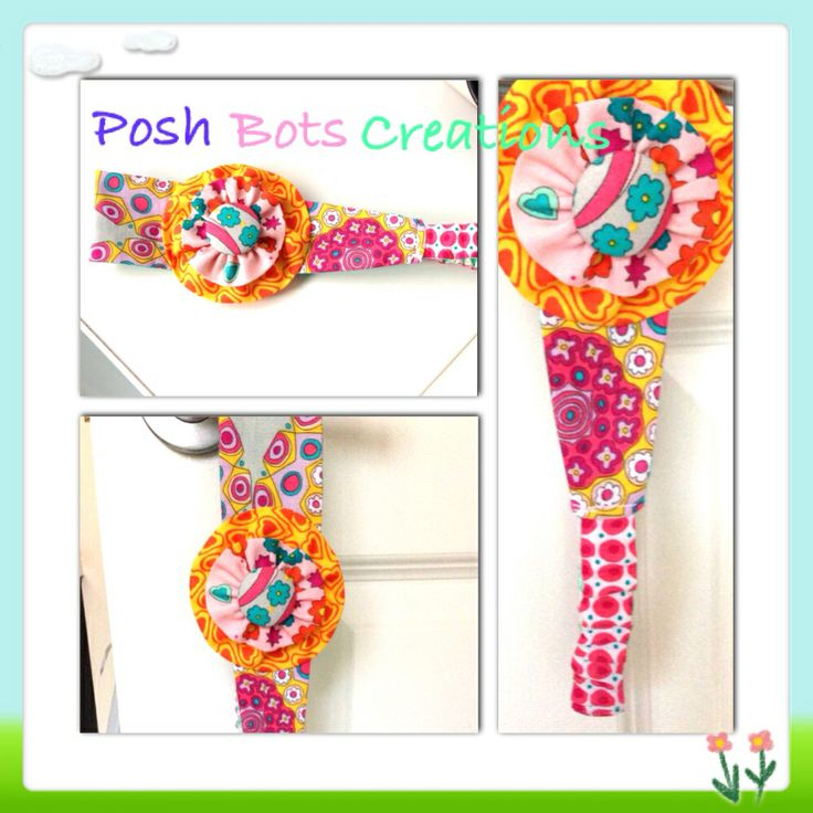 Reversible fabric headbands with fabric flower
