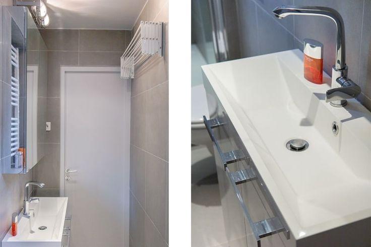 les 25 meilleures id es de la cat gorie petite salle de bain troite sur pinterest salle de. Black Bedroom Furniture Sets. Home Design Ideas