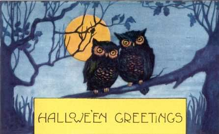 halloweenVintage Postcards, Vintage Halloween, Halloween Cards, Halloween Fun, Halloween Greeting, Halloween Owls, Halloween Vintage, Halloween Postcards, Vintage Cards