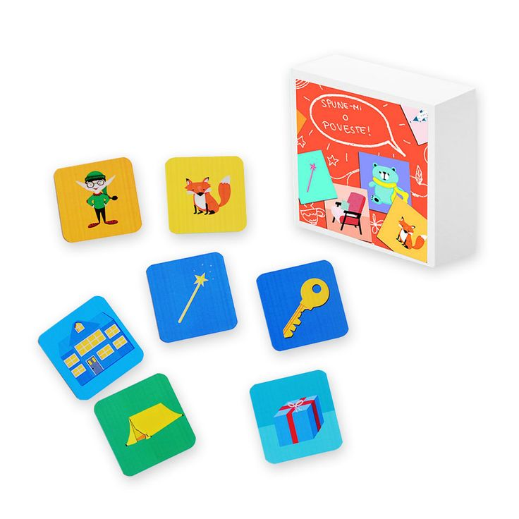 Spune-mi o poveste este un joc care stimuleaza dezvoltarea imaginatiei si a creativitatatii copilului dumneavoastra, intr-unul din cele mai frumoase moduri – inventand povesti. Cum folosim Spune-mi o poveste? Jocul contine 30 de cartonase cu diferite imagini cu ajutorul carora puteti crea impreuna cu micutul dumneavoastra nenumarate povesti. Jocul este foarte versatil si permite adaptarea …