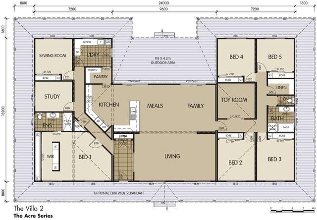 Villa 2 Floor Plan Country House Plans House Plans Unique Floor Plans