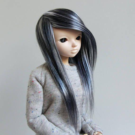 Minifee fairyland mnf wig black and white mix no bang emo