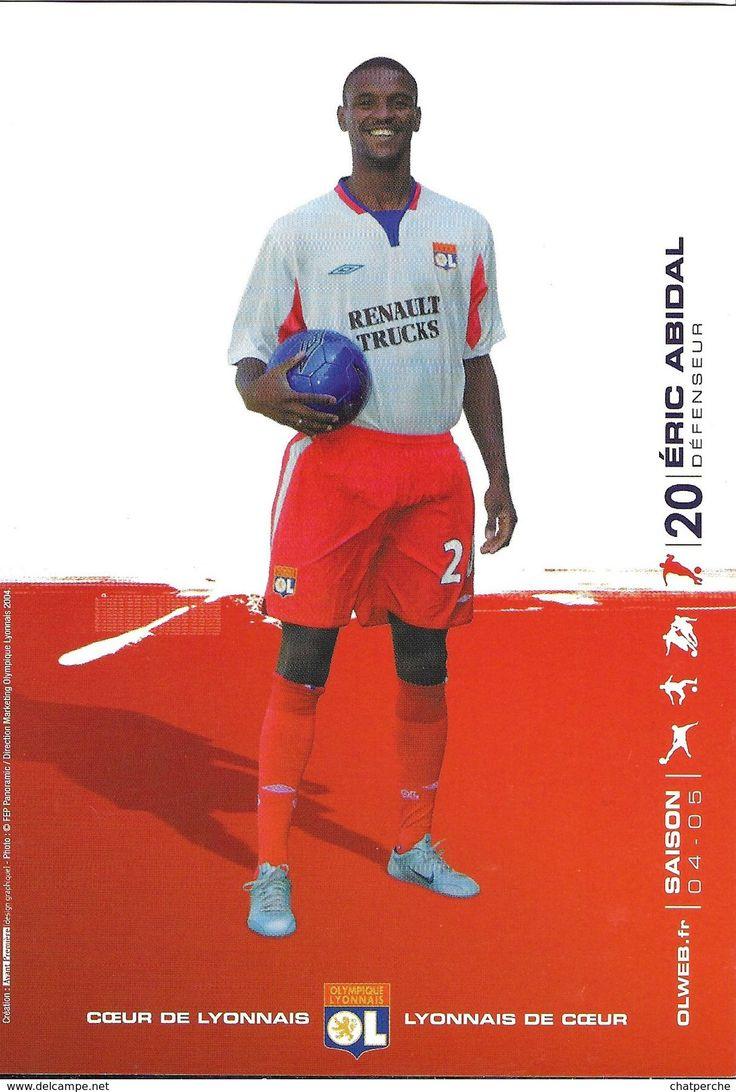 FOOTBALL JOUEUR  ERIC ABIDAL 20 SAISON 04.05 OLYMPIQUE LYONNAIS OL COEUR DE LYONNAIS DE COEUR