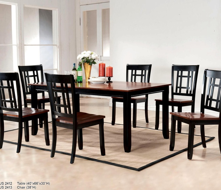 2410 Dinette 7 Piece Dining Set By US Furniture Inc Sold Royal