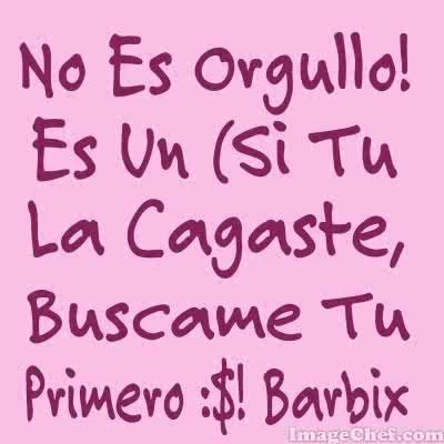 No Es Orgullo :$ Barbix