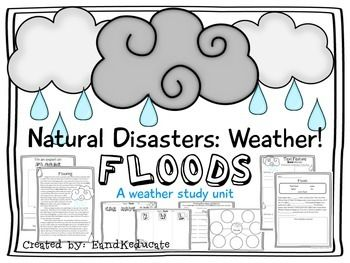 Natural Disasters! Weather-Flood. Fun way to mix reading and science!