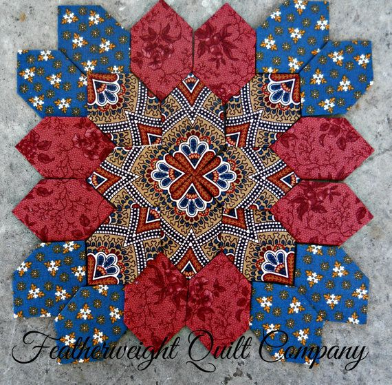 Another new block kit by Jan Manley at Featherweightquiltco, Lucy Boston Patchwork of the Crosses Block by FeatherweightQuiltCo
