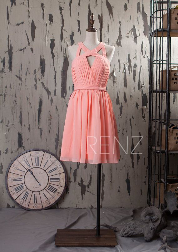 2015 Hot Pink New Chiffon Bridesmaid dress Wedding by RenzRags