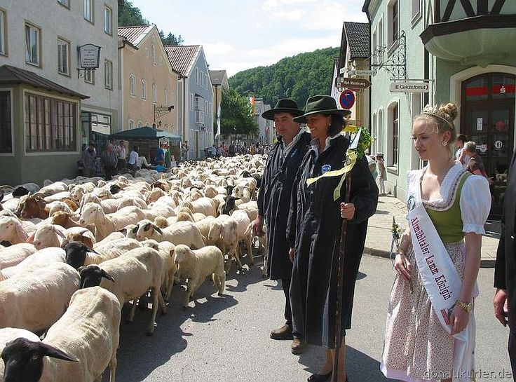 Altmühltaler Lamm-Auftrieb 2015 im Markt Mörnsheim