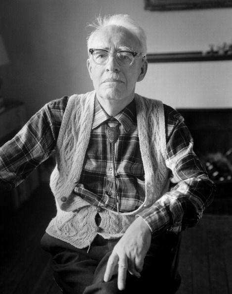 Irish writer Frank O'Connor (1903 - 1966), Dublin, Ireland, 1966. (Photo by Evelyn Hofer