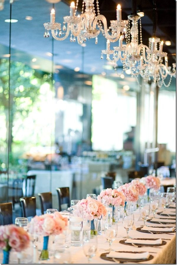 We LOVED these chandeliers that our bride had installed at Marie Gabrielle in Dallas!
