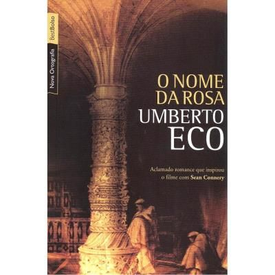 O Nome da Rosa - Primeiro romance de Umberto Eco, este fascinante livro fez com que o conceituado professor italiano da Universidade de Bolonha alcançasse prestígio internacional como romancista histórico. Marcada pela ironia de Eco, a narrativa é repleta de mistérios, com símbolos secretos e manuscritos codificados, mas também explora profundas questões filosóficas. Em 1986, 'O Nome da Rosa' recebeu adaptação homônima para o cinema dirigida por Jean-Jacques Annaud e estrelada por Sean…