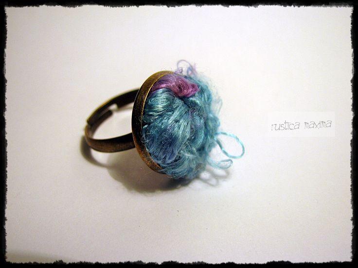 oneofakind #handmade silk-knot #ring http://facebook.com/rusticamaxima