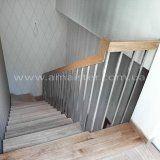 Лестничные перила из стали и дерева || Сходові поручні із сталі і дерева