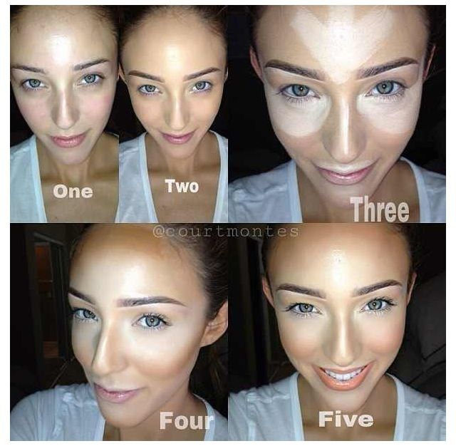 Makeup, highlighting that looks 10 times more reasonable to do.