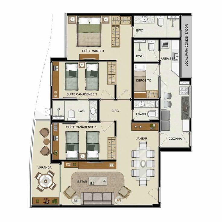 Painters Mill Apartments: 55 Best Plantas De Apartamentos Images On Pinterest