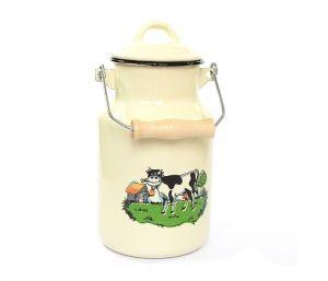 Bańka na mleko emaliowana Elo Krówka 4L