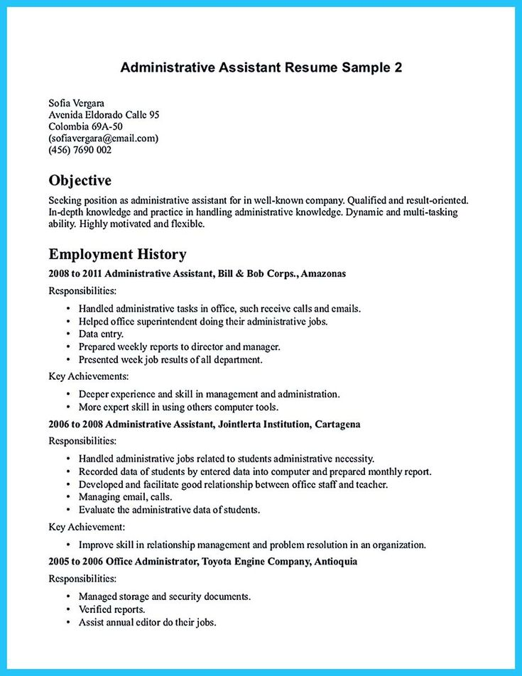 cool Professional Administrative Resume Sample to Make You Get the Job,