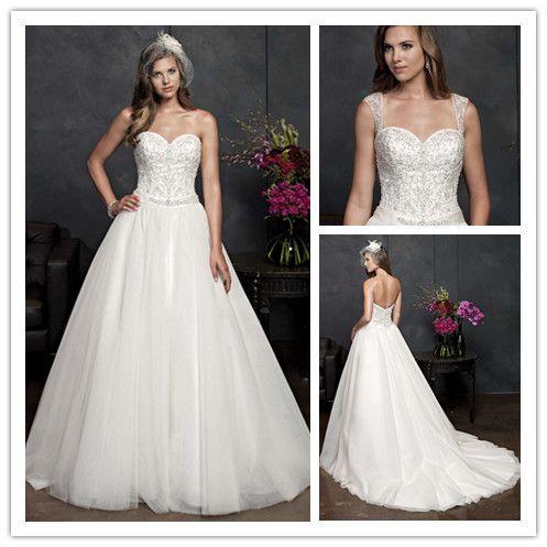 WE-2463 Fashion nigerian wedding dresses puffy ball gown wedding dress with sweetheart neckline US $169.00