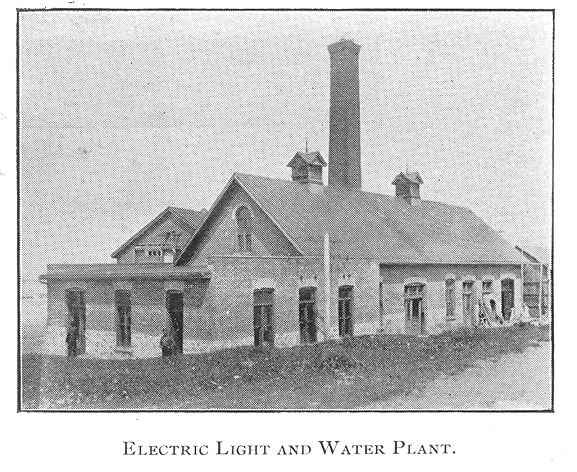Electric Light and Water Plant, Goderich, Ontario c.1897 #Goderich #RediscoverGoderich #VintageGoderich
