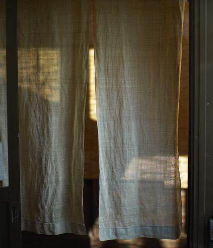 noren (japanese curtain) by itarugra, via Flickr