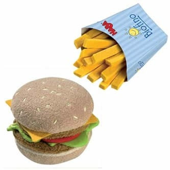 Pretend Play at it's finest: HABA Biofino Hamburger with French Fries!