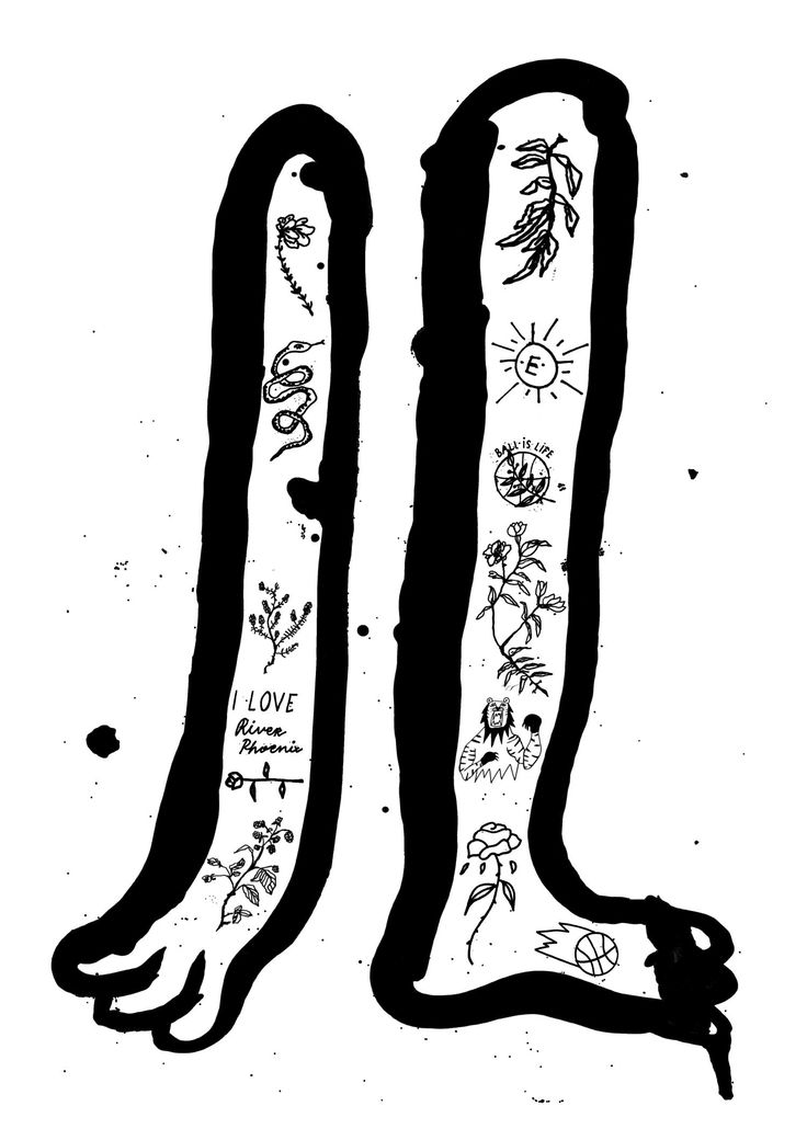 A black and white tattoo art print by Emelinn Heikkinen.