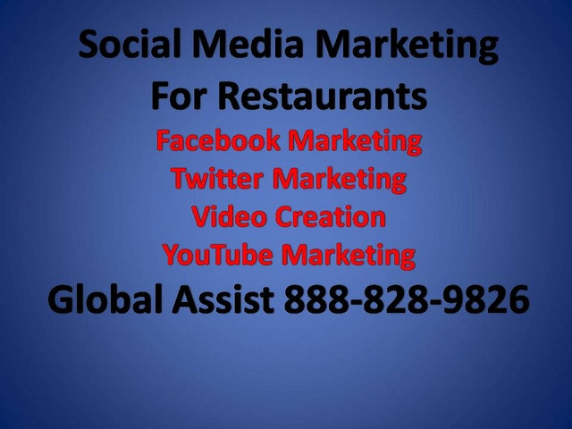 Global Assist Social Media Marketing services for Restaurants. Global Assist can help your restaurant show up on the first pages of Google and other search engines organically. Our team of fully trained social media marketing assistants can help with Great Picture, Inspiring, Keep Up The Great Work, {also|by the way|if yo