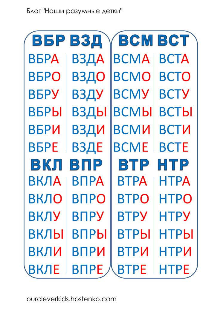 Слоговая таблица в карточках.pdf — Просмотр документов