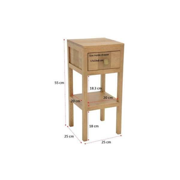 17 table de chevet faible largeur