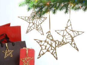 Estrellas fáciles para el árbol de navidad ~ Portal de Manualidades