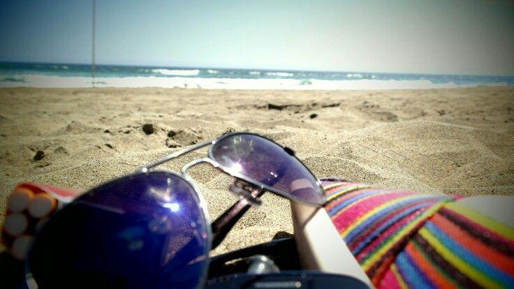 Lentes en la playa. ..