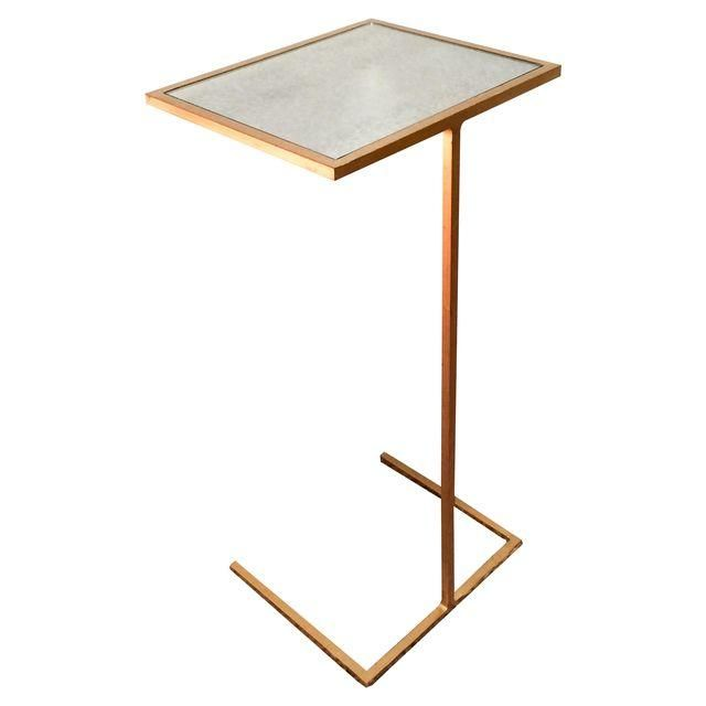 Image of Worlds Away Gilded Mirror Top Cigar Table