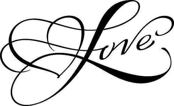 Script Love with Heart Valentine's Day Wedding Favors - Traditional Wooden Handle Rubber Stamp