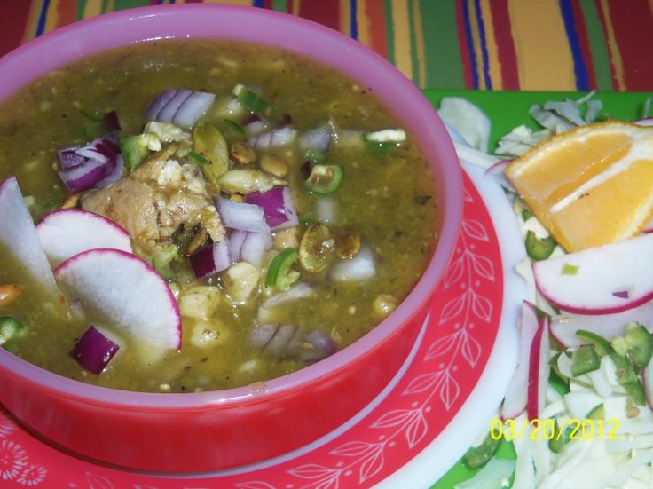 Chile Verde Pork Pozole - Hispanic Kitchen