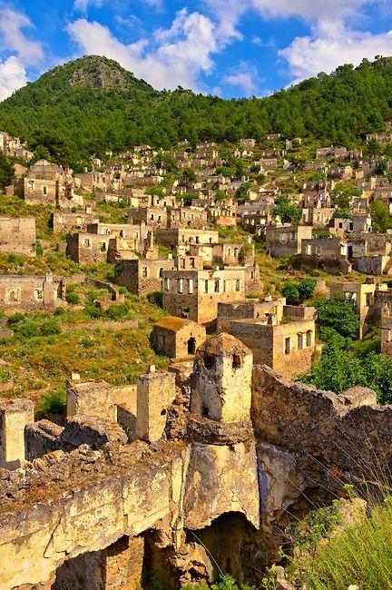 Kayaköy abandoned Greek Village . Near Fethiye Turkey