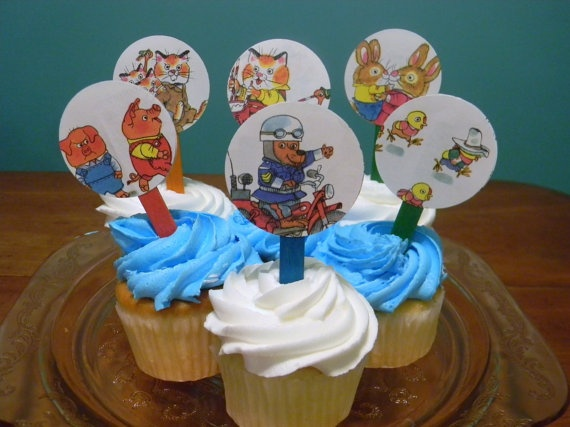 busytown cupcake topper
