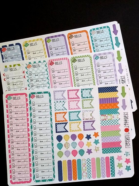 Calendar Planner Erin : Available bill tracker full year fits erin