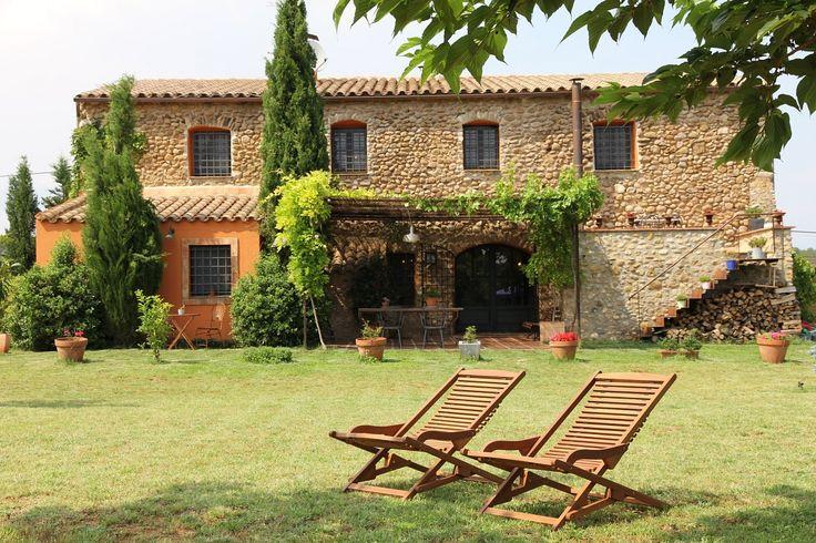 Casa rural Hostal Nou de Crespià en Crespià. Comarca del Pla de l'Estany,