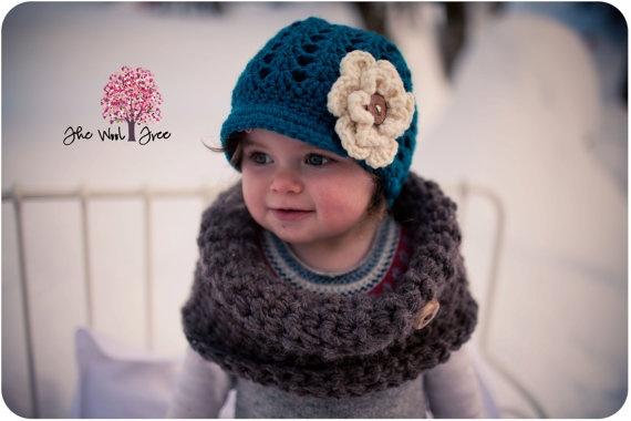 Bonnet casquette bébé fille von theWoolTreeBoutique auf Etsy, €30,00