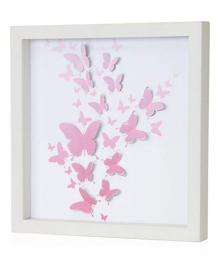 Pink Butterfly Wall Decoration : Best ideas about butterfly wall art on