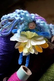 Pipe-cleaner flower fairies