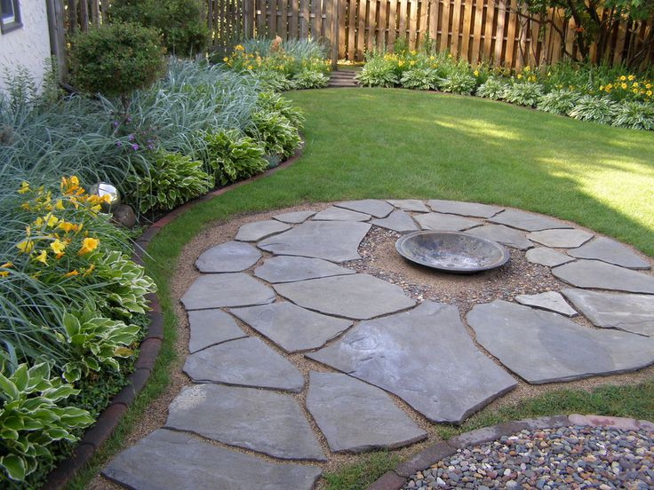 Backyard Flagstone Firepit By Erin Lanigan Outdoor